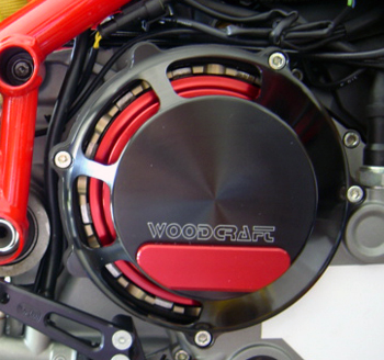 RH, Ducati Clutch Cover, Black
