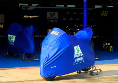 capit motorcycle cover blue