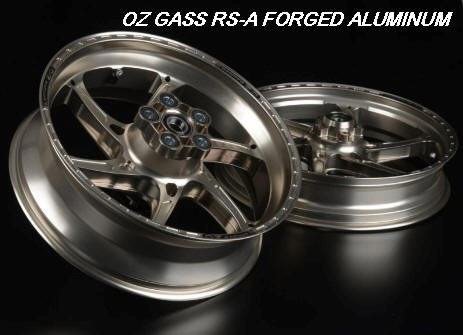 OZ GASS  RS-A FORGED ALUMINUM 6 Spoke wheels