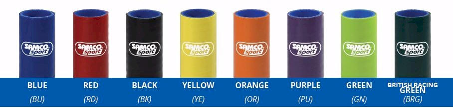 Samco Hose Stock Color Chart