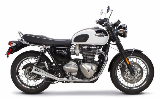 Two Brothers Exhaust Triumph Bonneville T120 T100 dual slip on