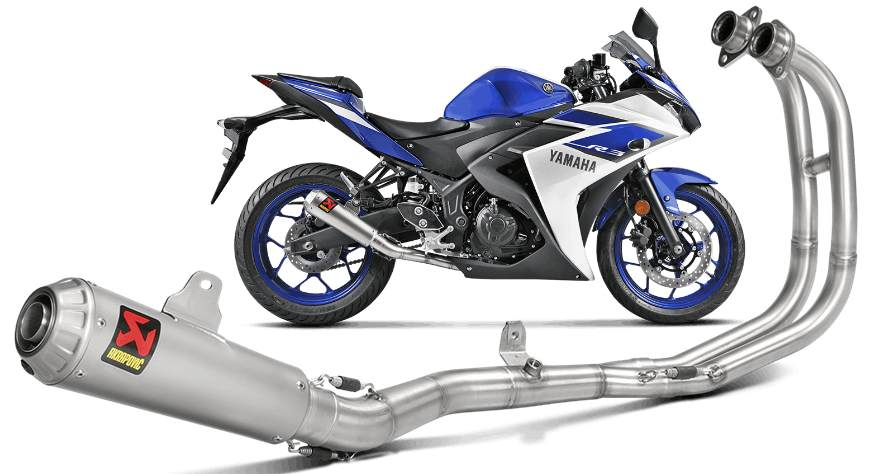 akrapovic race stainless full exhaust r3
