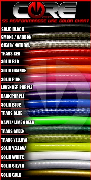 core moto brake line color